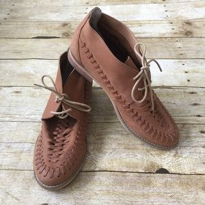 BP woven detail chukka moccasin bootie
